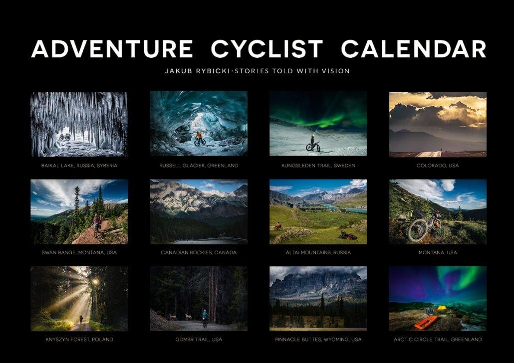 Kalendarz ścienny 2021 autorstwa Jakuba Rybickiego.